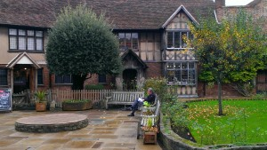 The Gift Shop Adjoining the House Where William Shakespeare was born. (Please exit through the gift shop.)