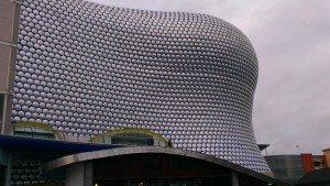Birmingham has some pretty modern buildings -- this is Selfridges.