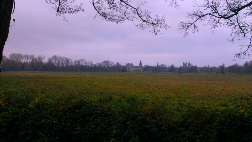 Christ Church College, seen from across their fields.